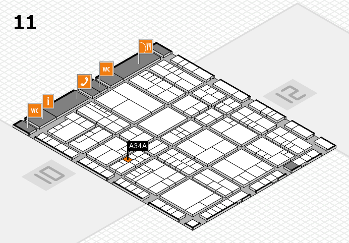 interpack 2017 hall map (Hall 11): stand A34A