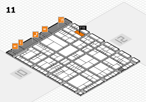 interpack 2017 hall map (Hall 11): stand F19