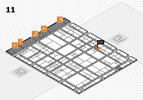 interpack 2017 hall map (Hall 11): stand E40