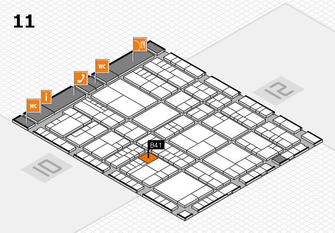 interpack 2017 Hallenplan (Halle 11): Stand B41