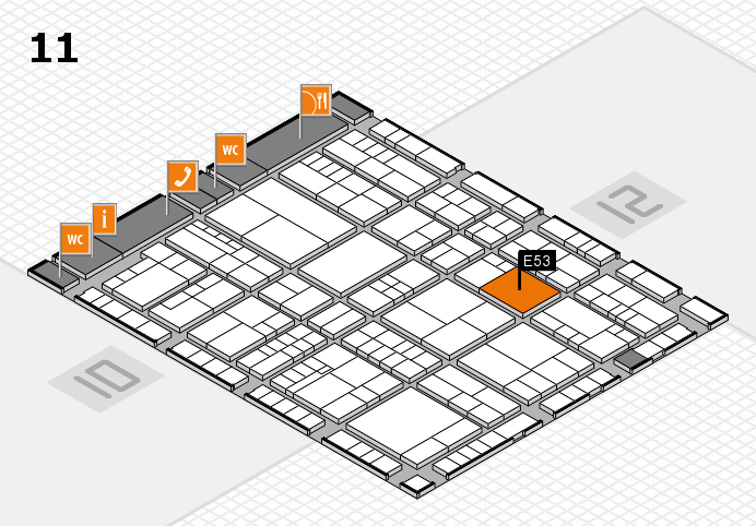 interpack 2017 hall map (Hall 11): stand E53