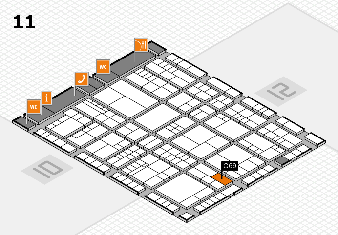 interpack 2017 hall map (Hall 11): stand C69