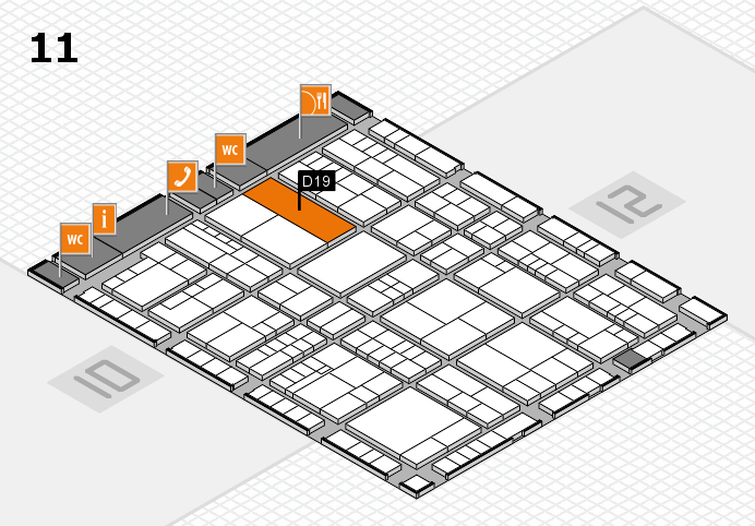 interpack 2017 hall map (Hall 11): stand D19