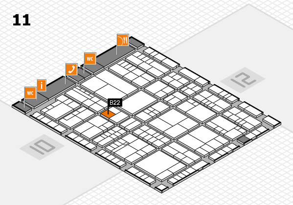 interpack 2017 hall map (Hall 11): stand B22