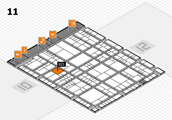 interpack 2017 hall map (Hall 11): stand B23