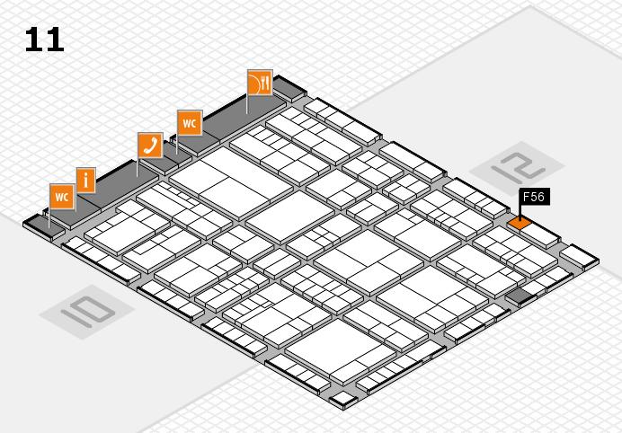 interpack 2017 Hallenplan (Halle 11): Stand F56