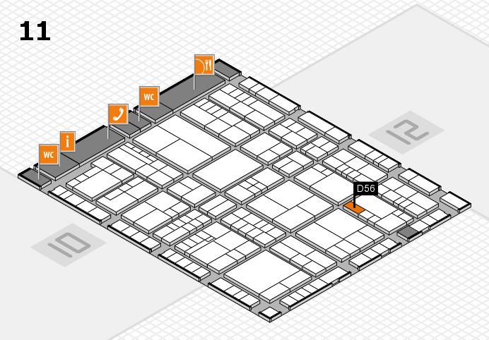 interpack 2017 Hallenplan (Halle 11): Stand D56