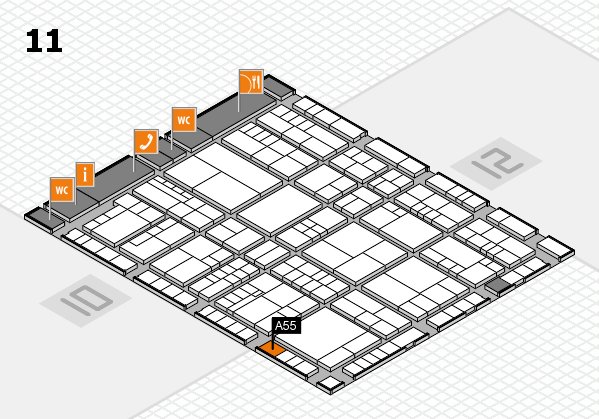 interpack 2017 hall map (Hall 11): stand A55