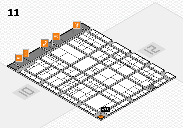 interpack 2017 hall map (Hall 11): stand A75