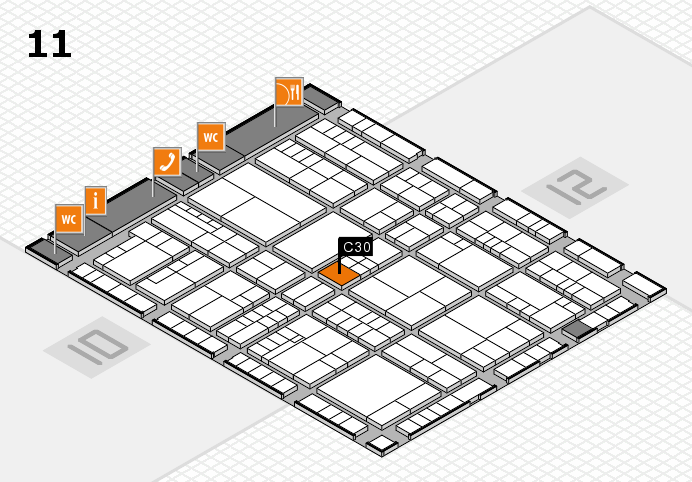 interpack 2017 hall map (Hall 11): stand C30