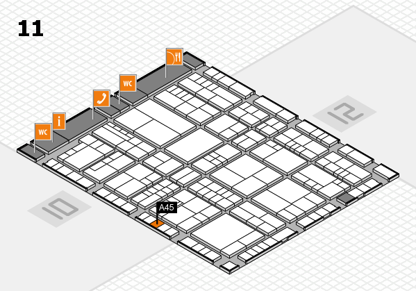 interpack 2017 hall map (Hall 11): stand A45