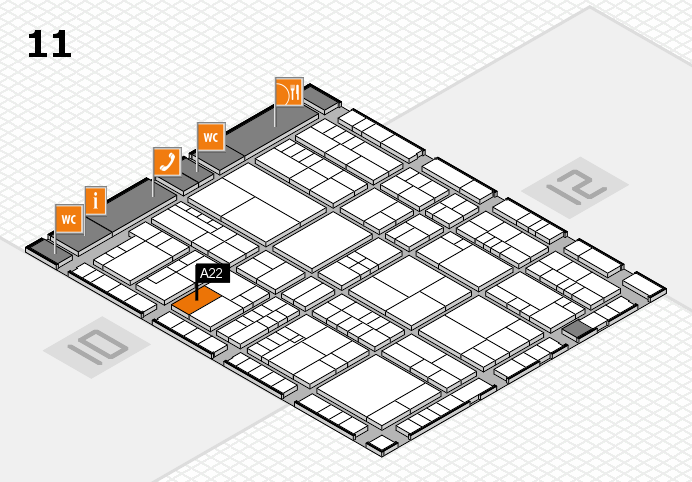 interpack 2017 hall map (Hall 11): stand A22