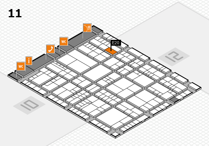 interpack 2017 hall map (Hall 11): stand E20