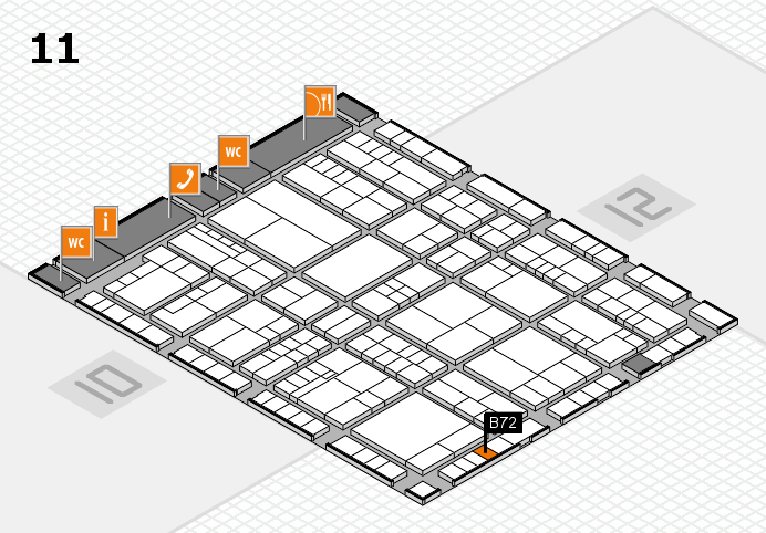 interpack 2017 hall map (Hall 11): stand B72