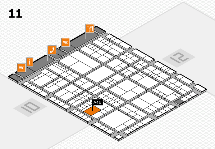 interpack 2017 Hallenplan (Halle 11): Stand A46