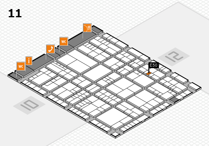 interpack 2017 hall map (Hall 11): stand E50