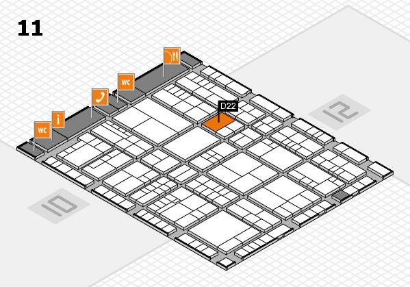 interpack 2017 Hallenplan (Halle 11): Stand D22