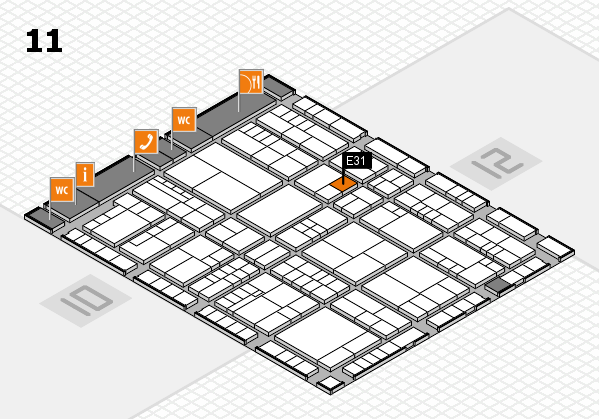 interpack 2017 hall map (Hall 11): stand E31