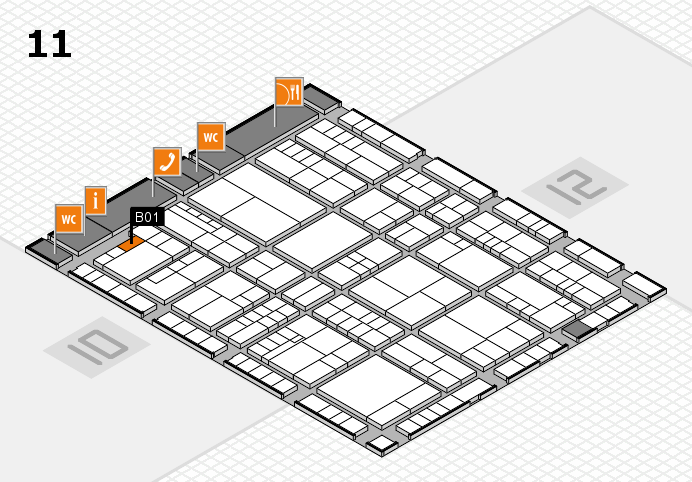interpack 2017 hall map (Hall 11): stand B01