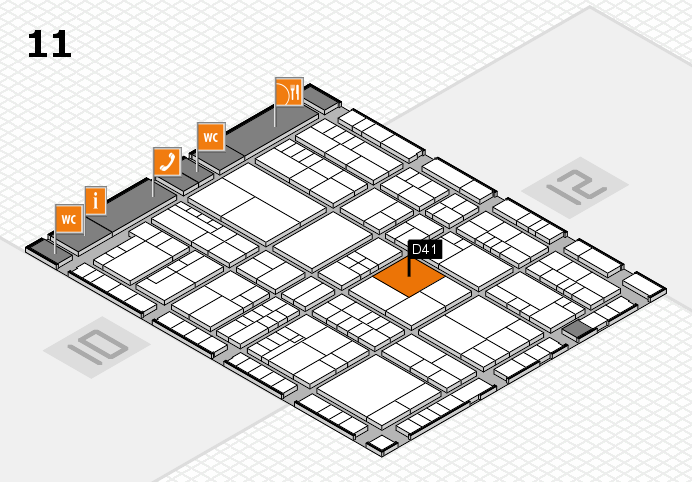 interpack 2017 hall map (Hall 11): stand D41