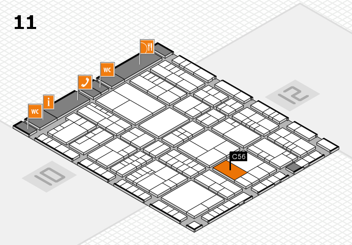 interpack 2017 hall map (Hall 11): stand C56