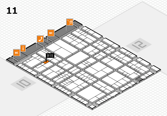 interpack 2017 Hallenplan (Halle 11): Stand B15