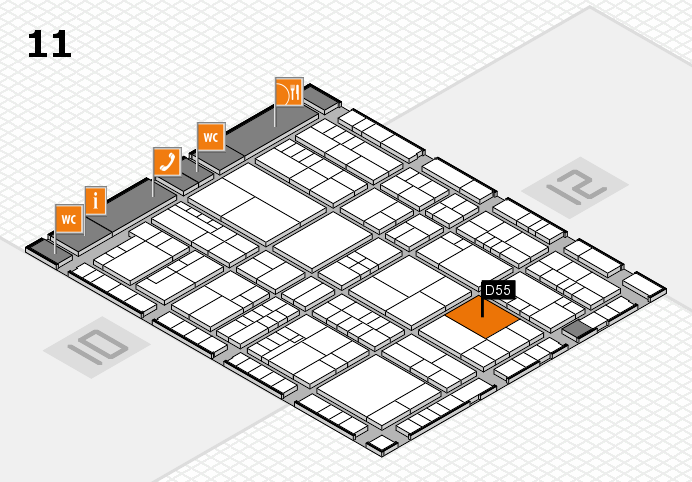 interpack 2017 hall map (Hall 11): stand D55