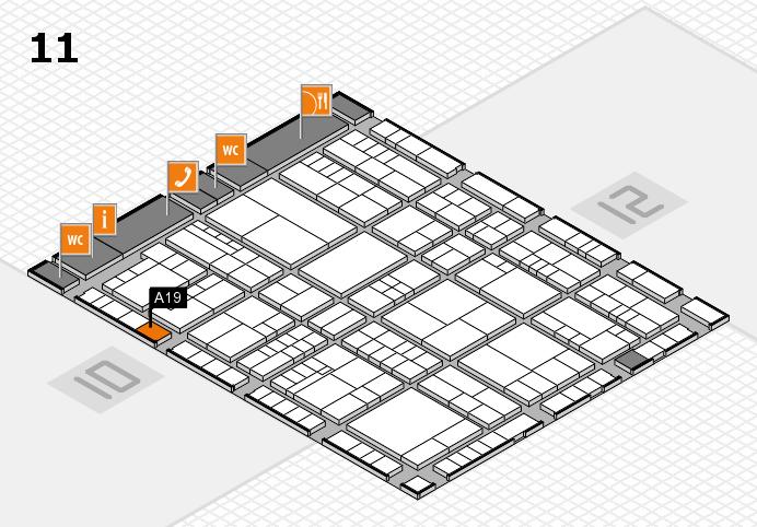 interpack 2017 Hallenplan (Halle 11): Stand A19
