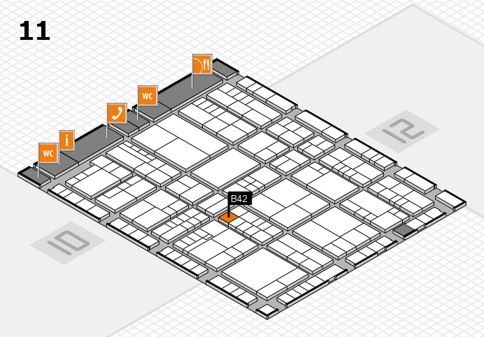 interpack 2017 hall map (Hall 11): stand B42