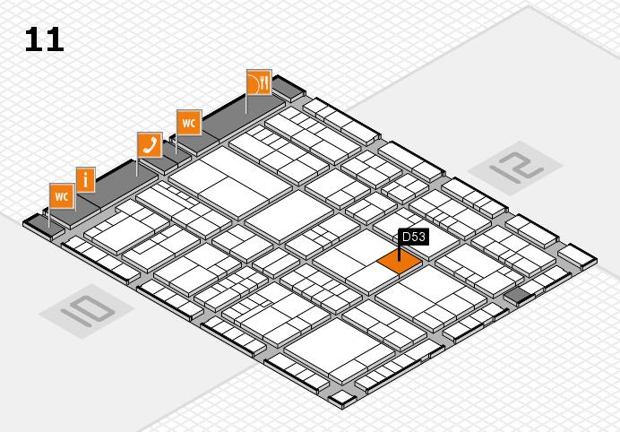 interpack 2017 Hallenplan (Halle 11): Stand D53