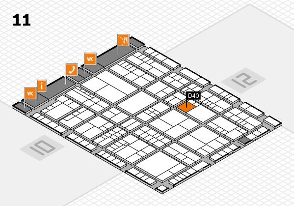 interpack 2017 Hallenplan (Halle 11): Stand D40