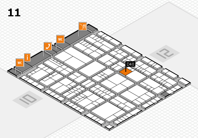 interpack 2017 hall map (Hall 11): stand D40