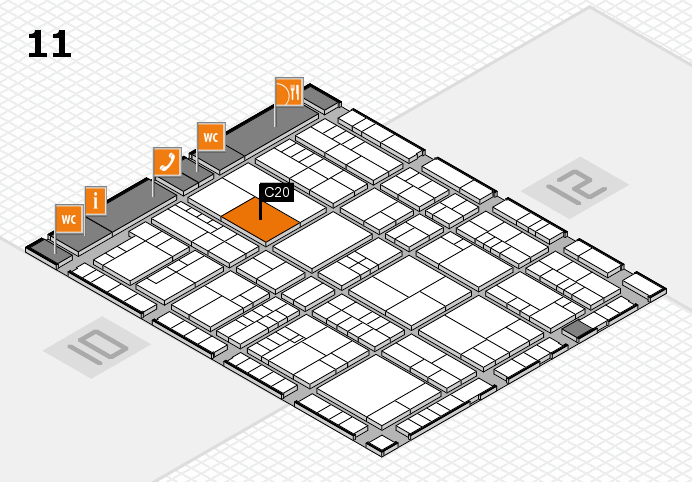 interpack 2017 hall map (Hall 11): stand C20