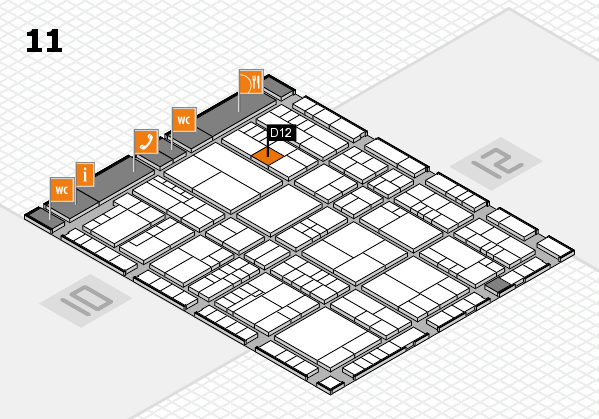 interpack 2017 hall map (Hall 11): stand D12