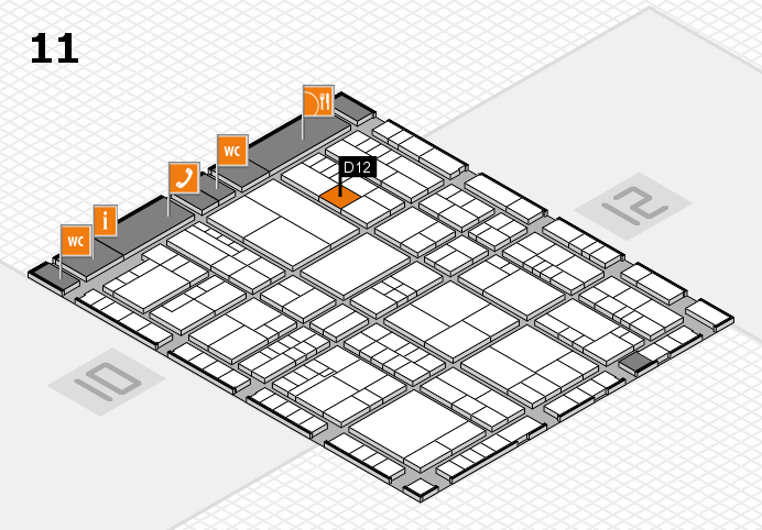 interpack 2017 Hallenplan (Halle 11): Stand D12
