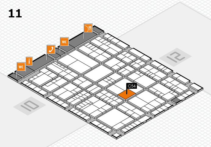 interpack 2017 hall map (Hall 11): stand C54