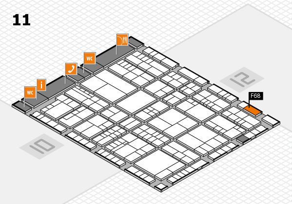 interpack 2017 Hallenplan (Halle 11): Stand F68