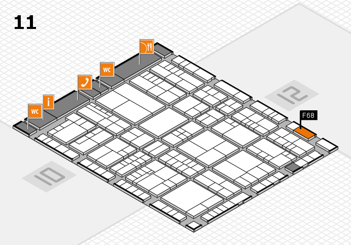 interpack 2017 hall map (Hall 11): stand F68
