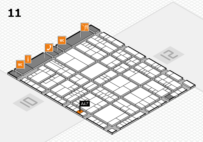 interpack 2017 hall map (Hall 11): stand A47