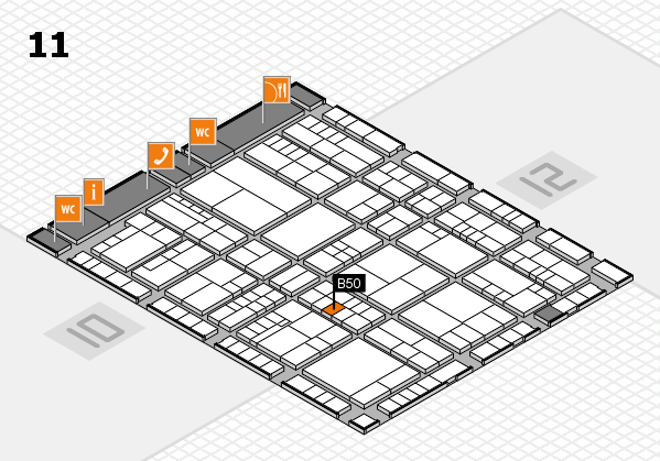 interpack 2017 hall map (Hall 11): stand B50