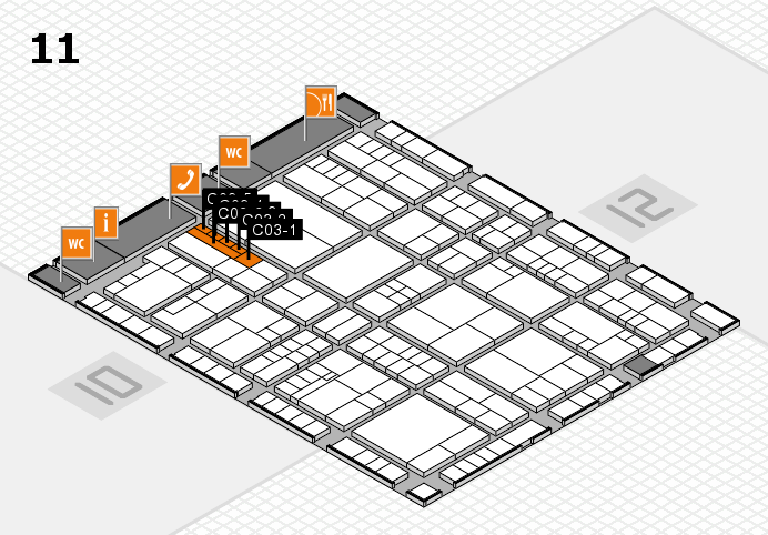 interpack 2017 hall map (Hall 11): stand C03