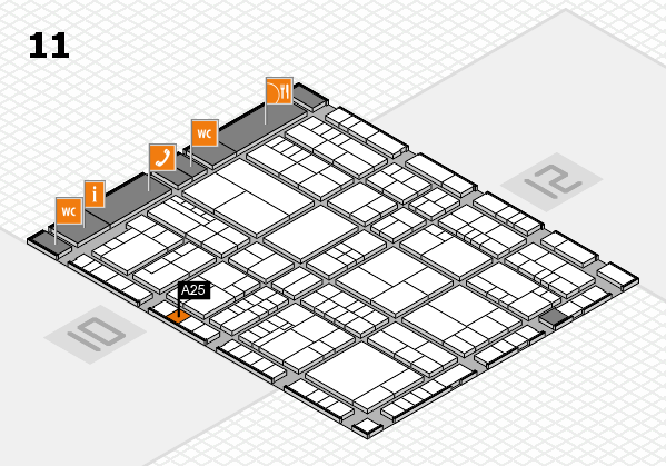 interpack 2017 hall map (Hall 11): stand A25