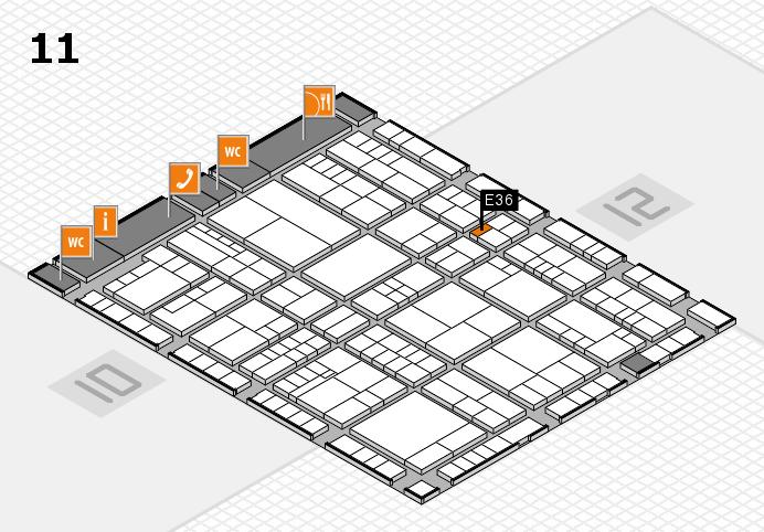 interpack 2017 Hallenplan (Halle 11): Stand E36