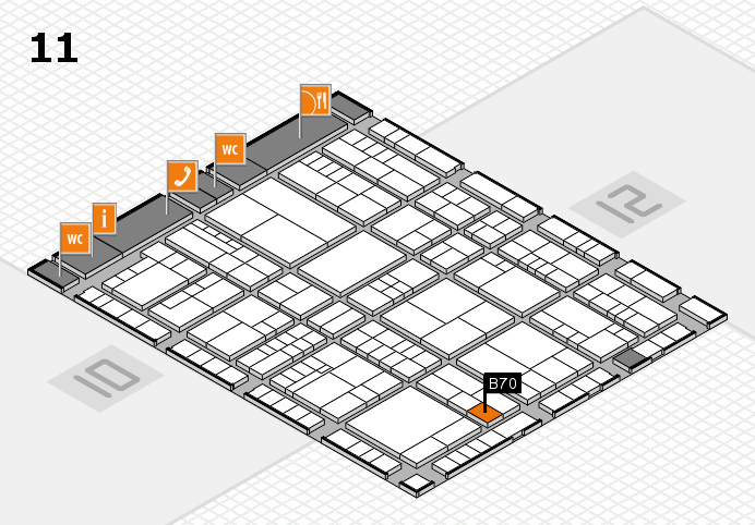 interpack 2017 hall map (Hall 11): stand B70