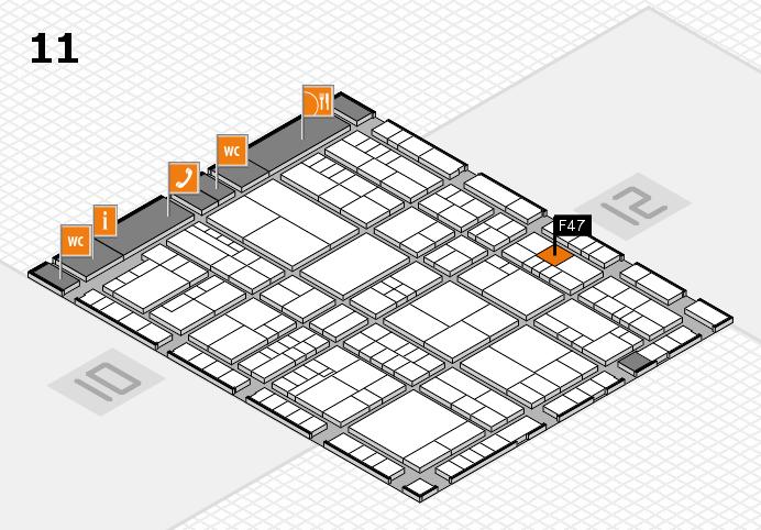 interpack 2017 Hallenplan (Halle 11): Stand F47