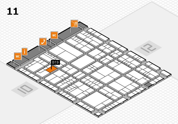 interpack 2017 Hallenplan (Halle 11): Stand B19