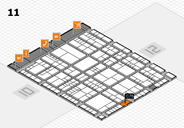 interpack 2017 hall map (Hall 11): stand C75