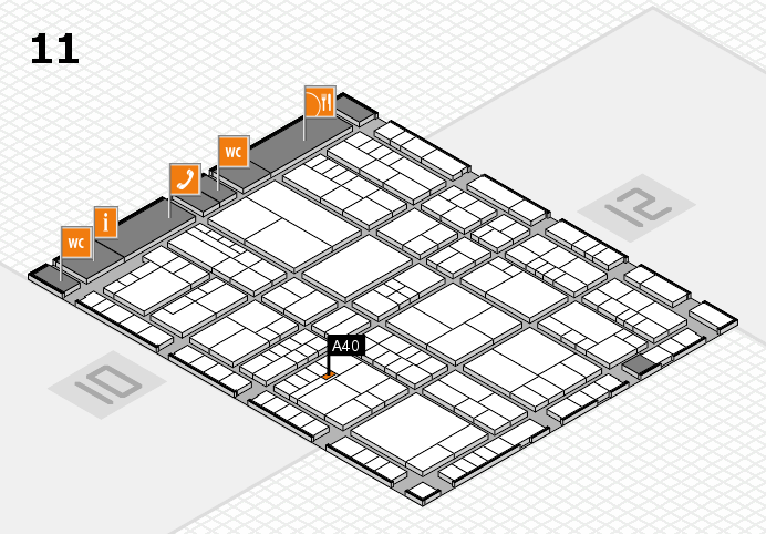 interpack 2017 hall map (Hall 11): stand A40