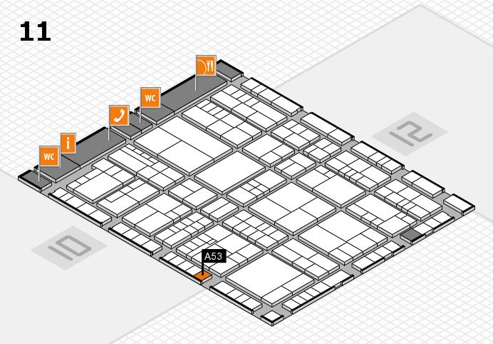 interpack 2017 Hallenplan (Halle 11): Stand A53