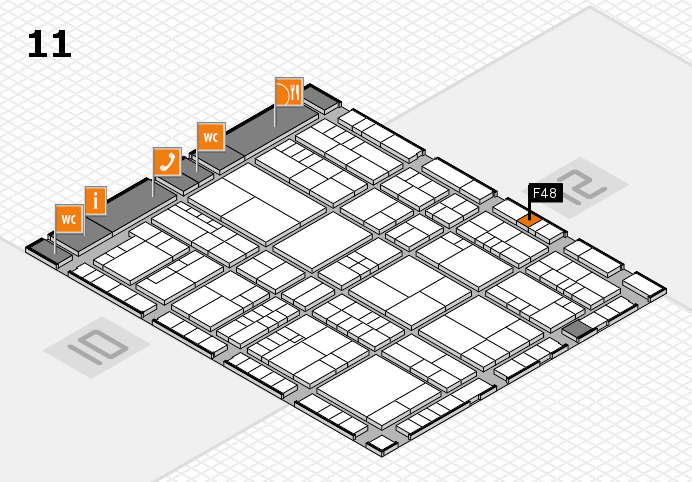 interpack 2017 Hallenplan (Halle 11): Stand F48